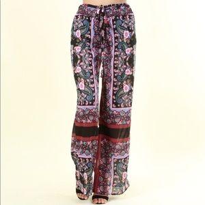 Paloma Paisley Print Pants